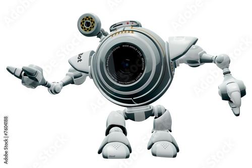 Robot Web Cam Gesturing Poster