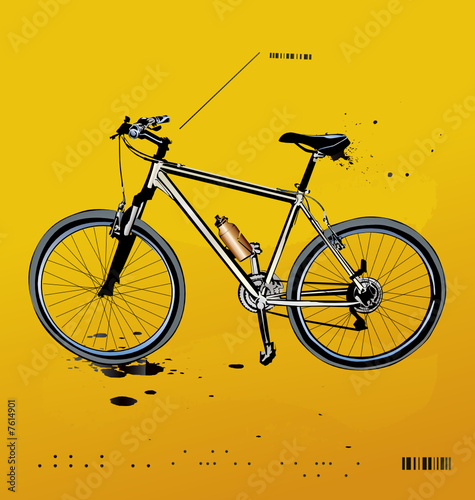 Fotobehang Fiets mountain bike
