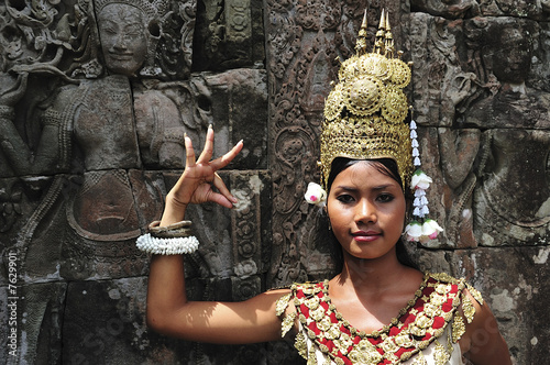 Photo Cambodia, Angkor: Apsara in BAYON temple