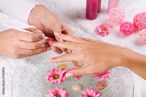 Keuken foto achterwand Manicure manicure