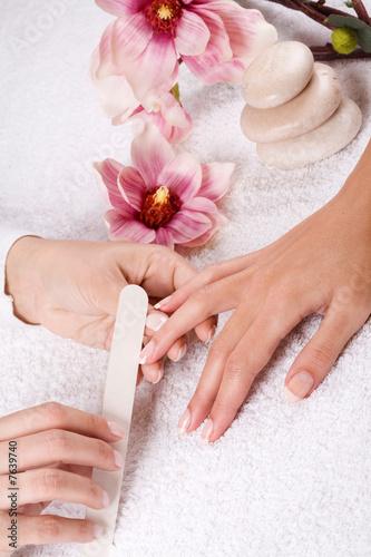 Staande foto Manicure manicure
