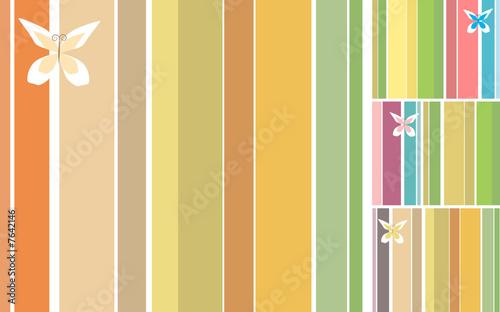 Stripes Background Design Set
