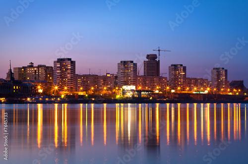 Fototapeta night city of Krasnoyarsk obraz