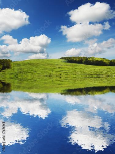 Fototapeta Lake obraz na płótnie