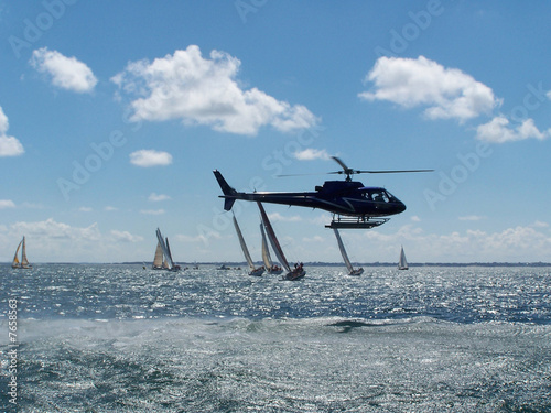 Poster Helicopter Bateau