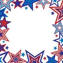 Patriotic Stars Border Illustration