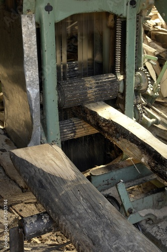 Foto op Aluminium Op straat lumber mill