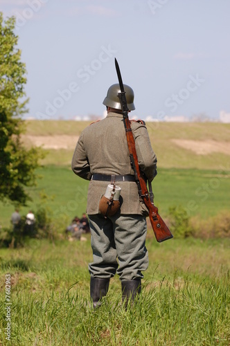 German soldier. WW2 reenacting