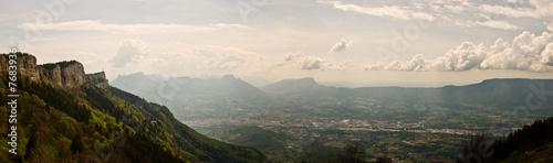 Papiers peints Blanc Panorama de Savoie (Nivolet, massif des Bauges)
