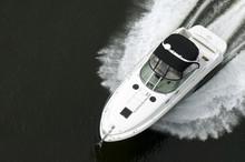 Black And White Speedboat
