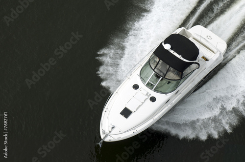 Fotografia Black and White Speedboat