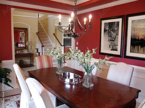 Red Dining Room Poster