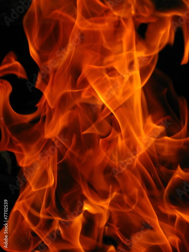 Aluminium Prints Flame Explosion of fire