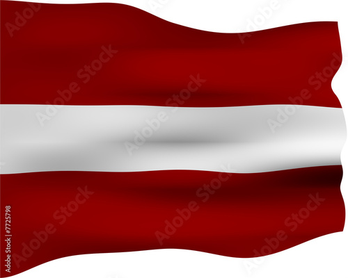 Photo Stands United States 3D Flag of Latvia