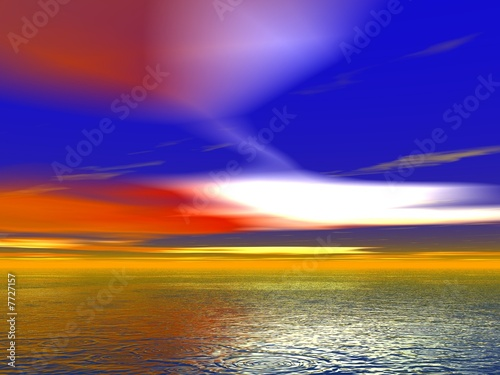 Keuken foto achterwand Rood traf. Wild Sunset