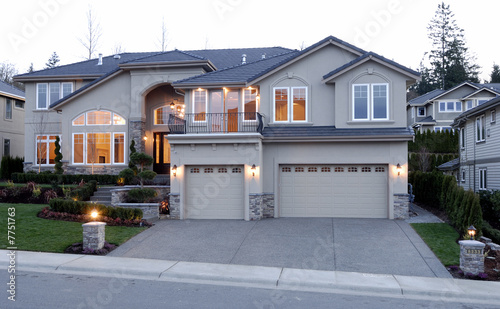 New Large American House Buy This Stock Photo And