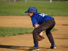 Young Little League Baseball Infielder