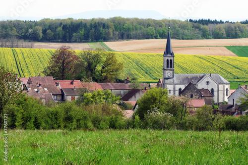 Village d'Amange Fototapet