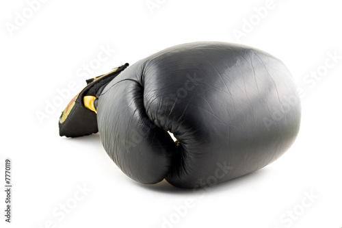 Fotografía  Black boxing glove isolated on white background