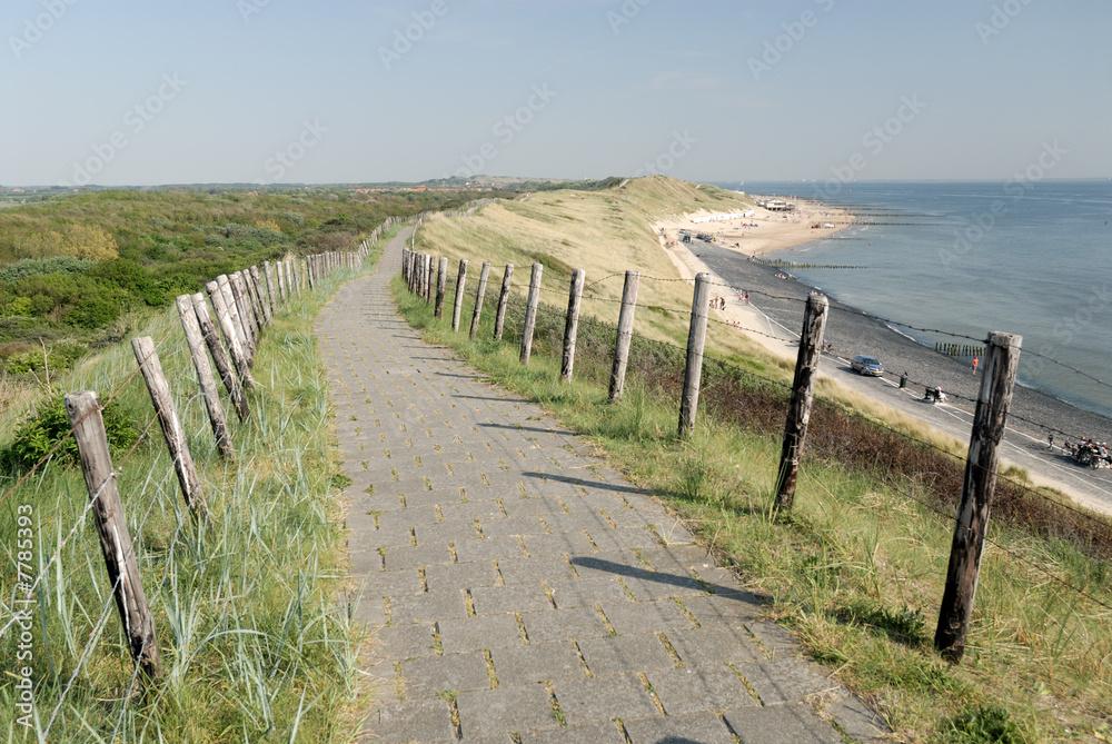 Fototapeta Coastline in the Netherlands