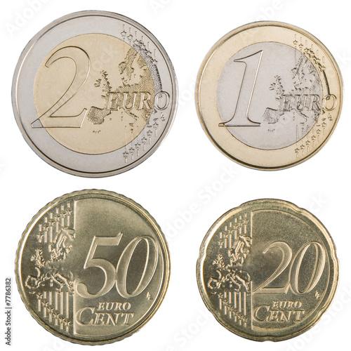 Fotografie, Obraz  Large Euro Coins
