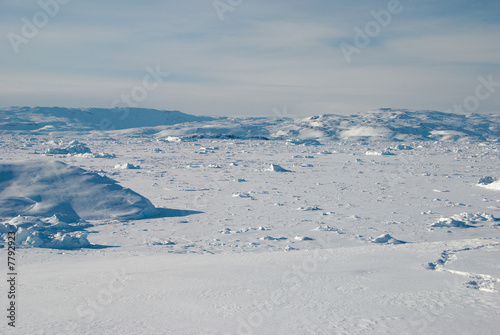 Poster Arctic Ice field in Greenland