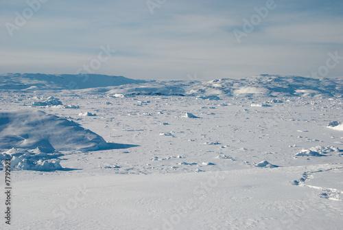 Door stickers Pole Ice field in Greenland