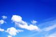 Leinwandbild Motiv Wolken am blauen Himmel 2
