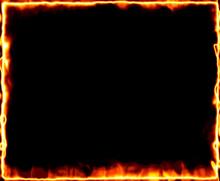 Fire Burning Frame