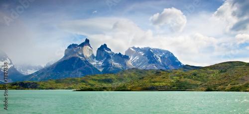 Tablou Canvas Torres del paine NP landscape, Chili