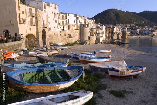Fotografie, Obraz  Wasserfront,Waterfront in Cefalu, Sizilien