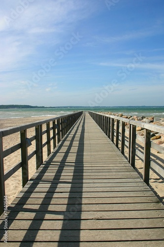 Foto Rollo Basic - Ostseebrücke