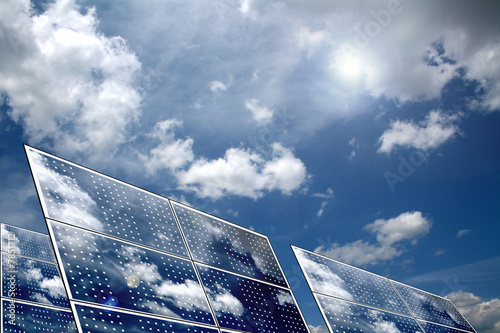 Solar panels Wallpaper Mural