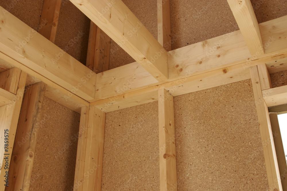 Fototapeta detail maison bois