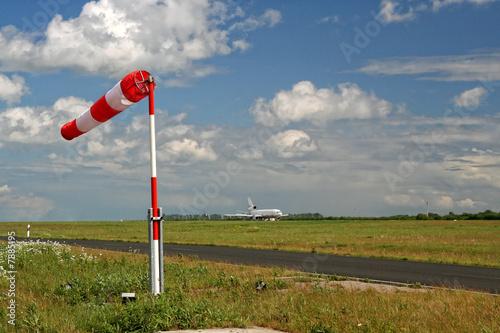 windsack auf dem Flughafen