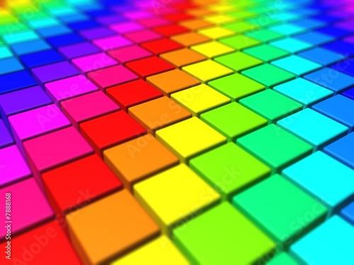 Fototapety, obrazy: Rainbow Cubes