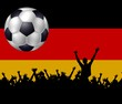 canvas print picture - Deutschland fussball fans mit flagge