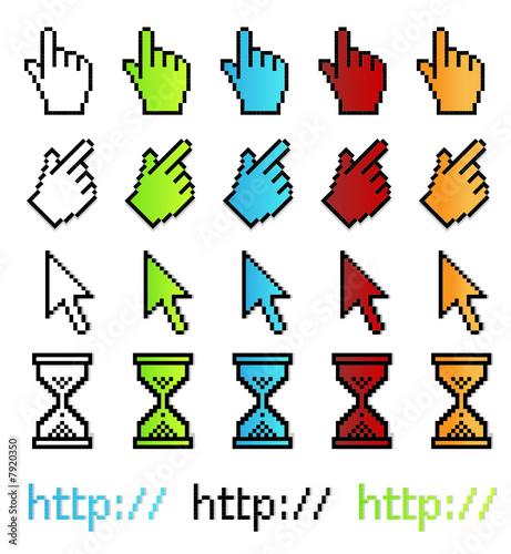 Photo sur Toile Pixel Pixel graphic vector pointers