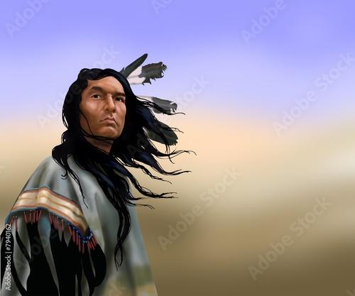 Poster Indiens lakota warrior