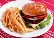 Hamburger, Vegetable And Potat...