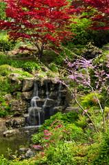 Obraz na Szkle Wodospad Cascading waterfall