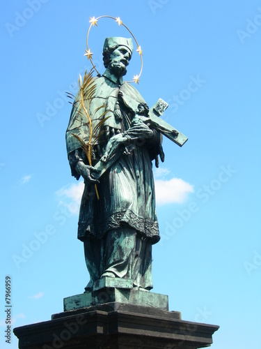 Photo  Statue of St John of Nepomuk on Charles Bridge, Prague