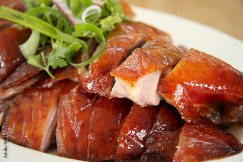Fotobehang Peking Roast duck slices