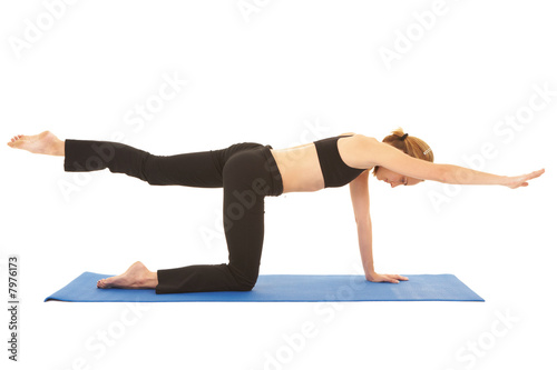 Photo  Pilates exercise series
