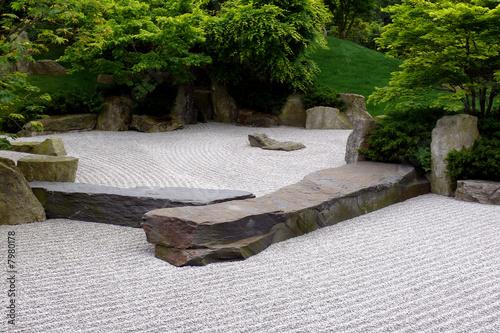 Photo sur Plexiglas Zen pierres a sable Zen-Garten