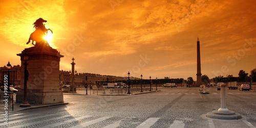 paris obelisque  place de la concorde Fototapet