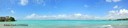 Fond de hotte en verre imprimé Caraibes panoramique de la mer des caraïbes