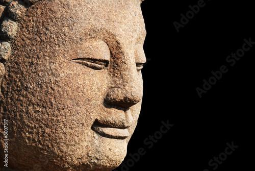 head of a stone bodhisattva Wallpaper Mural