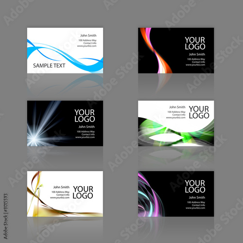 Photo  Business Cards Assortment