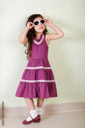 girl with sunglasses Tapéta, Fotótapéta